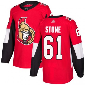 Authentic Adidas Youth Mark Stone Ottawa Senators Home Jersey - Red