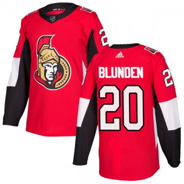Authentic Adidas Youth Mike Blunden Ottawa Senators Home Jersey - Red